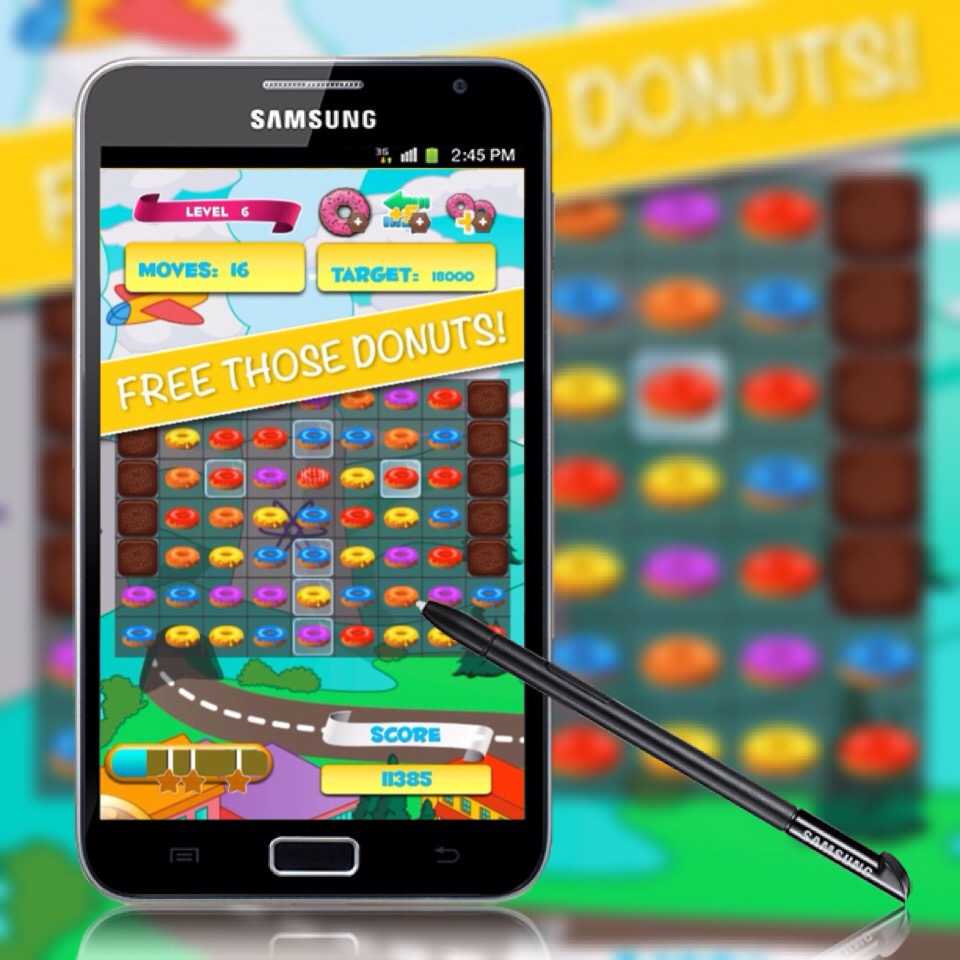 Match 3 Donuts - Puzzle Game