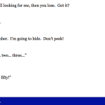 It, an interactive text adventure by Emily Boegheim