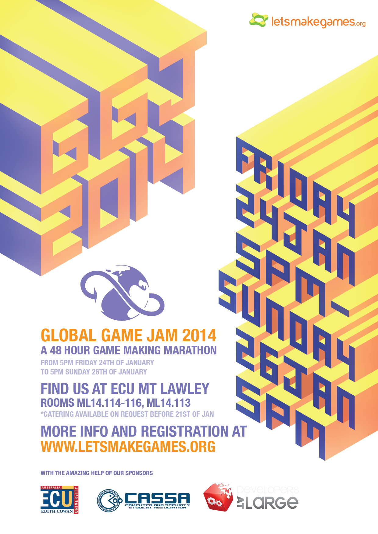 global game jam 2014 this weekend let s make games