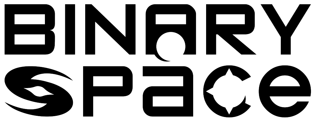 Text Logo: Binary Space. URL links to Binary Space website.