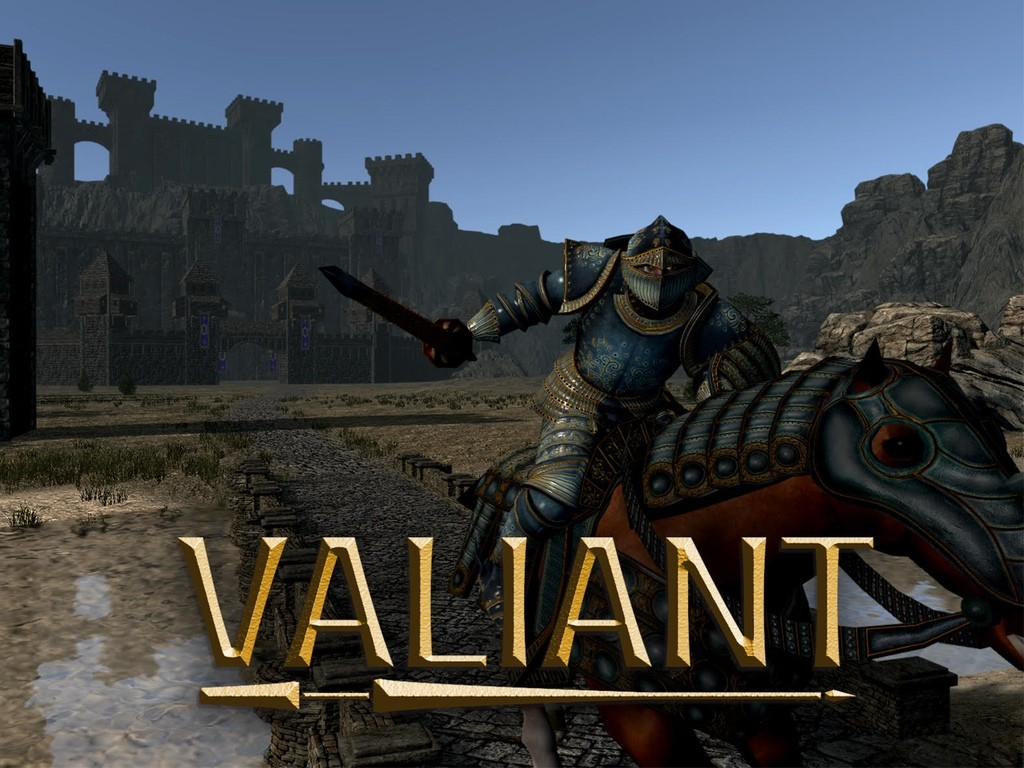 Valiant Feature Image - Knight on horseback with lance