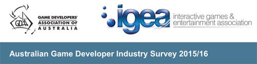 Banner: Australian Game Development Survey 2015/16
