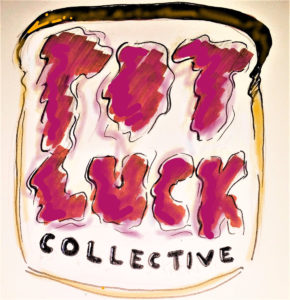 Logo Text reads: Pot Luck Collective