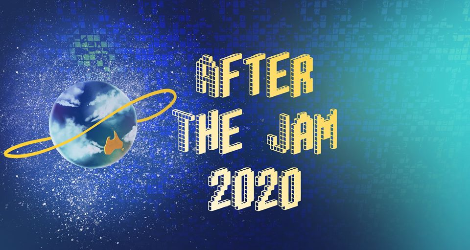 "Banner image with text reading ""After The Jam 2020"" next to the Global Game Jam logo"